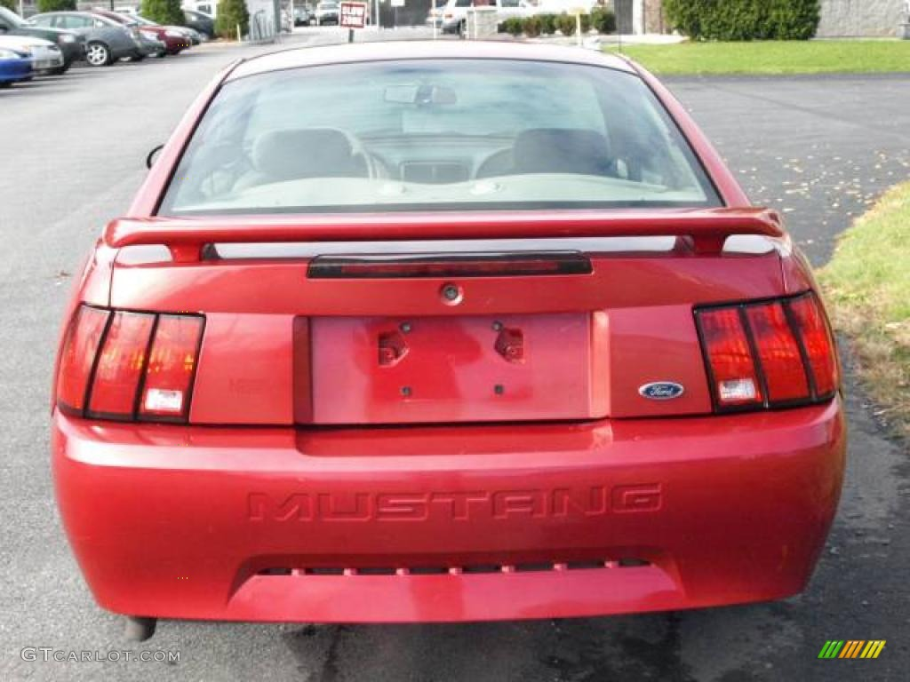 2001 Mustang V6 Coupe - Laser Red Metallic / Medium Parchment photo #5