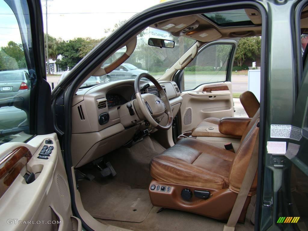 Castano Brown Leather Interior 2004 Ford F350 Super Duty