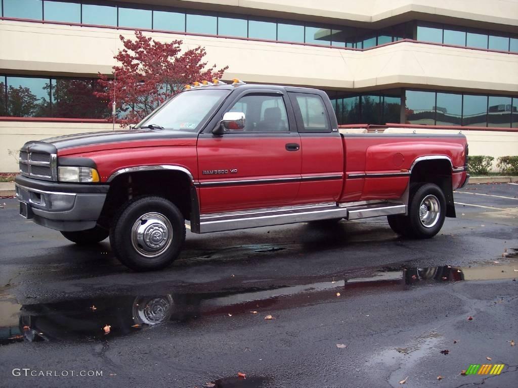 1996 Colorado Red Dodge Ram 3500 Laramie Extended Cab
