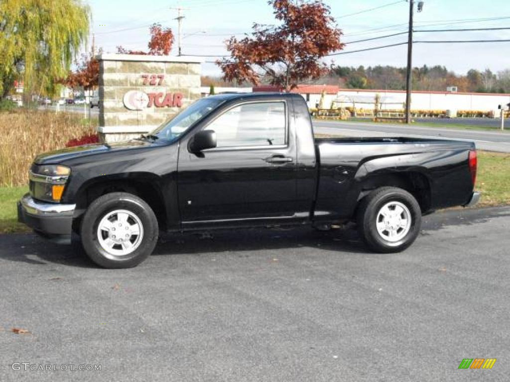 2007 black chevrolet colorado lt regular cab #20663568 | gtcarlot