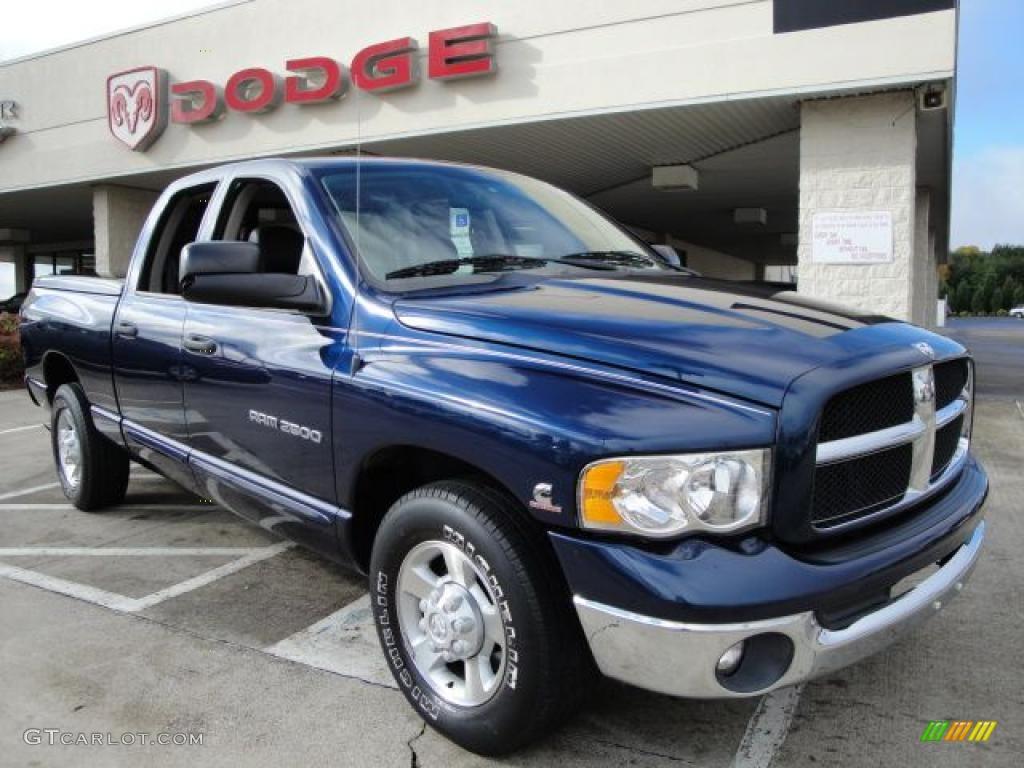 2003 patriot blue pearl dodge ram 2500 laramie quad cab 20666801 car color. Black Bedroom Furniture Sets. Home Design Ideas