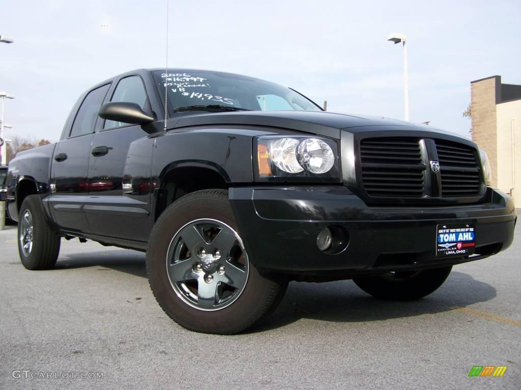 Brilliant black dodge dakota