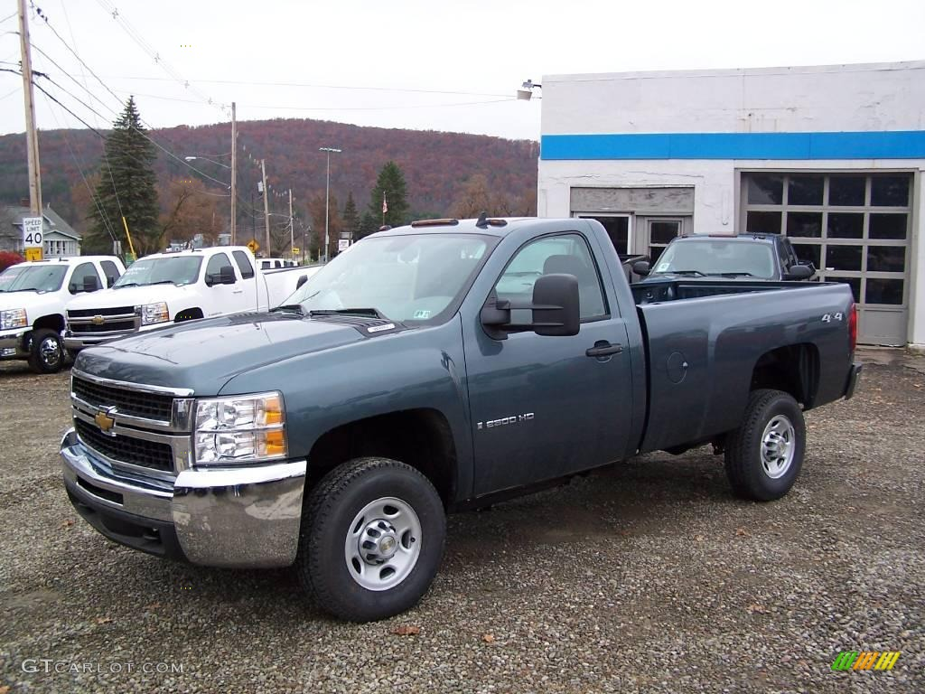 2009 Blue Granite Metallic Chevrolet Silverado 2500HD Work Truck ...