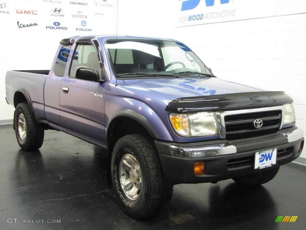 1999 horizon blue metallic toyota tacoma trd extended cab 4x4 20734808 car. Black Bedroom Furniture Sets. Home Design Ideas