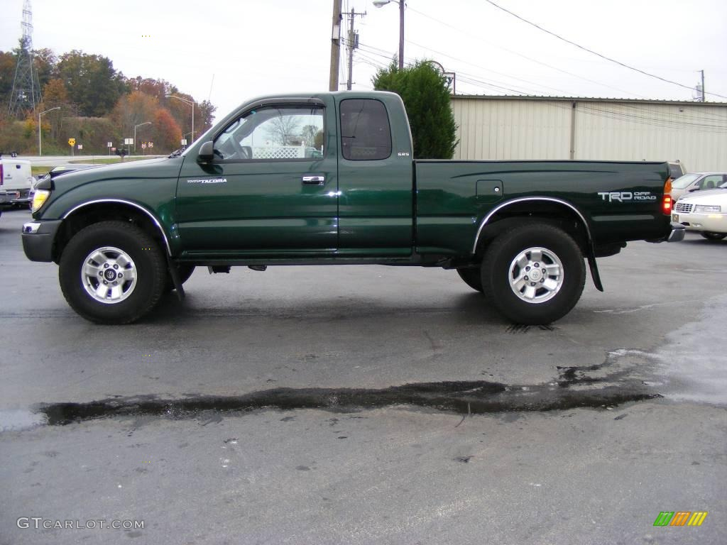 2000 Imperial Jade Green Mica Toyota Tacoma Sr5 Extended