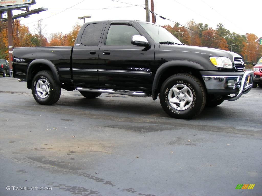 2002 black toyota tundra sr5 trd access cab 4x4 20729102 car color galleries. Black Bedroom Furniture Sets. Home Design Ideas