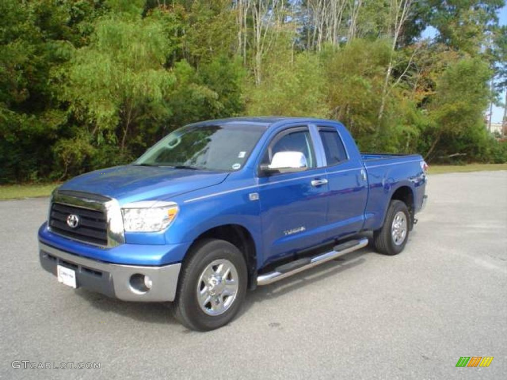 2008 Tundra Double Cab 4x4 - Blue Streak Metallic / Graphite Gray photo #1