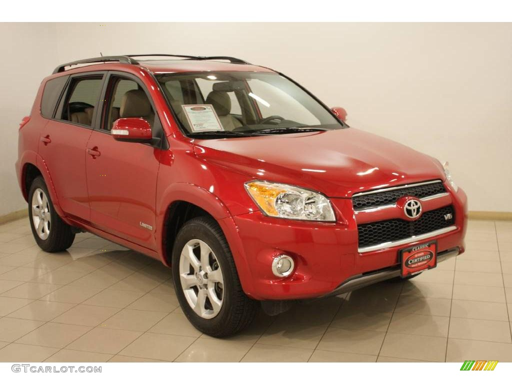 2009 barcelona red metallic toyota rav4 limited v6 4wd. Black Bedroom Furniture Sets. Home Design Ideas