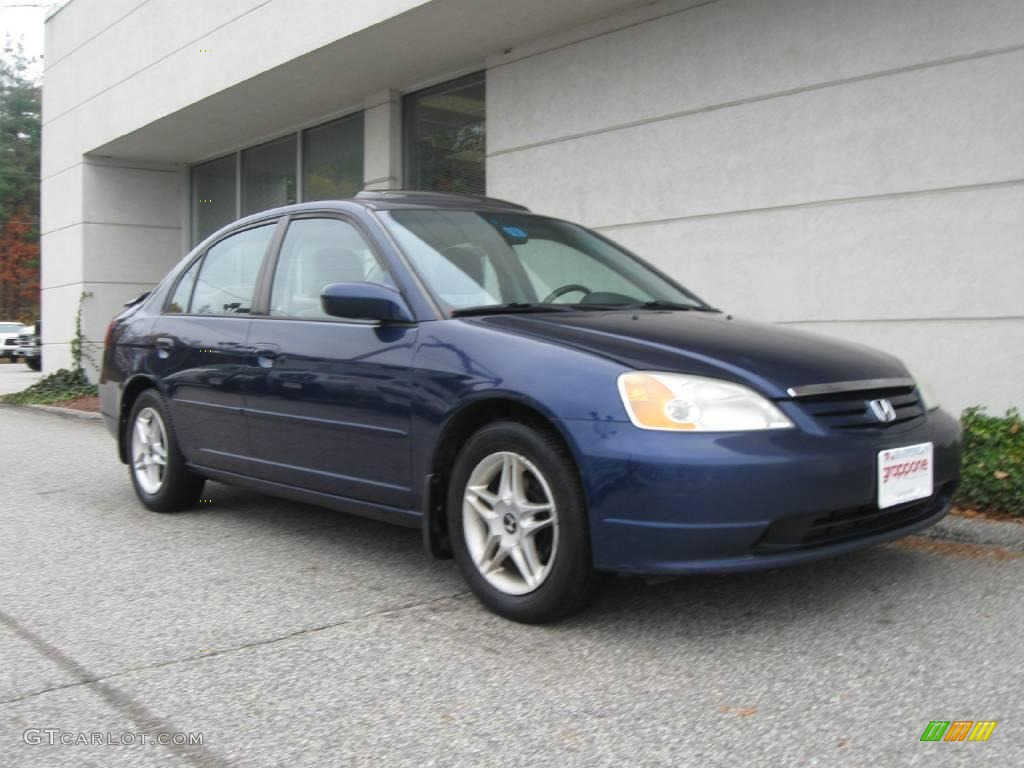 Eternal Blue Pearl Honda Civic. Honda Civic EX Sedan