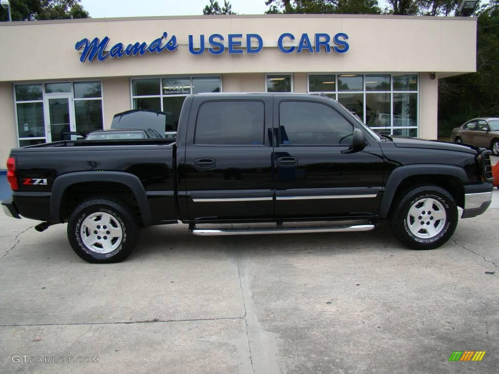 2004 black chevrolet silverado 1500 z71 crew cab 4x4 20732141 car color galleries. Black Bedroom Furniture Sets. Home Design Ideas