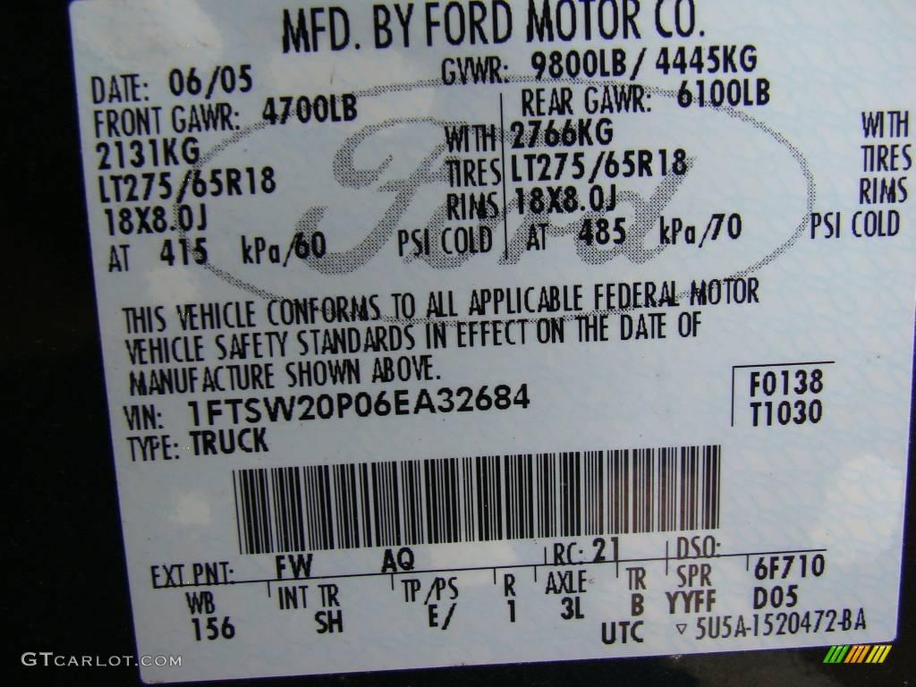 ford  super duty king ranch crew cab color code  gtcarlotcom