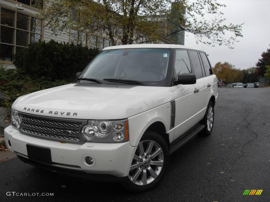 2007 Range Rover Supercharged - Chawton White / Ivory/Black photo #1