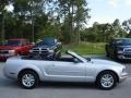 2007 Satin Silver Metallic Ford Mustang V6 Deluxe Convertible  photo #9