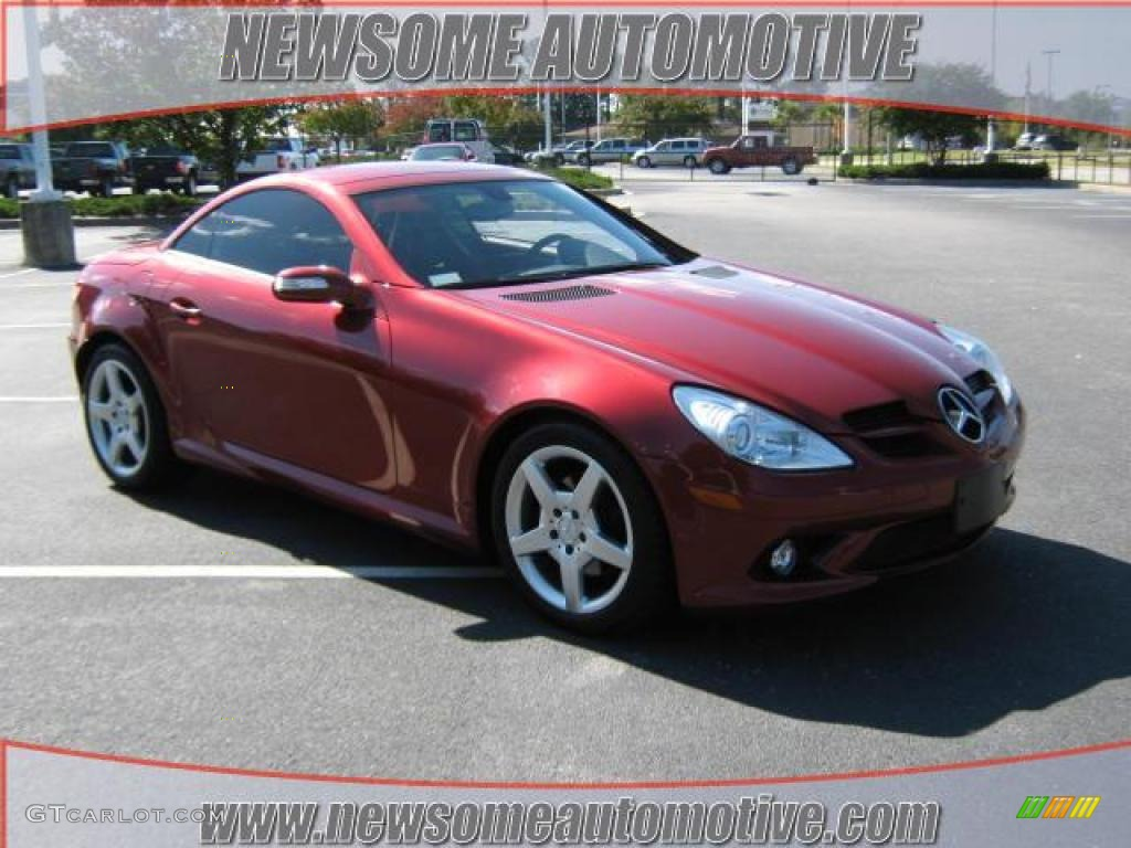 2006 Firemist Red Metallic Mercedes Benz Slk 280 Roadster