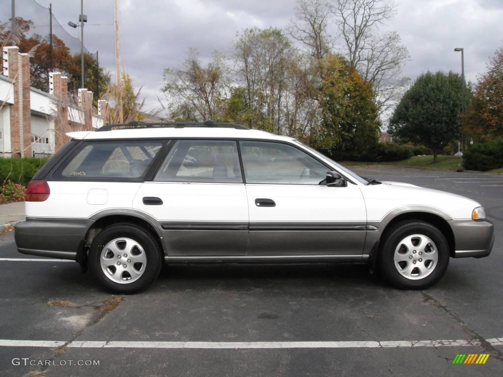 1998 Glacier White Subaru Legacy Outback Wagon 20918099 Photo 7 Black