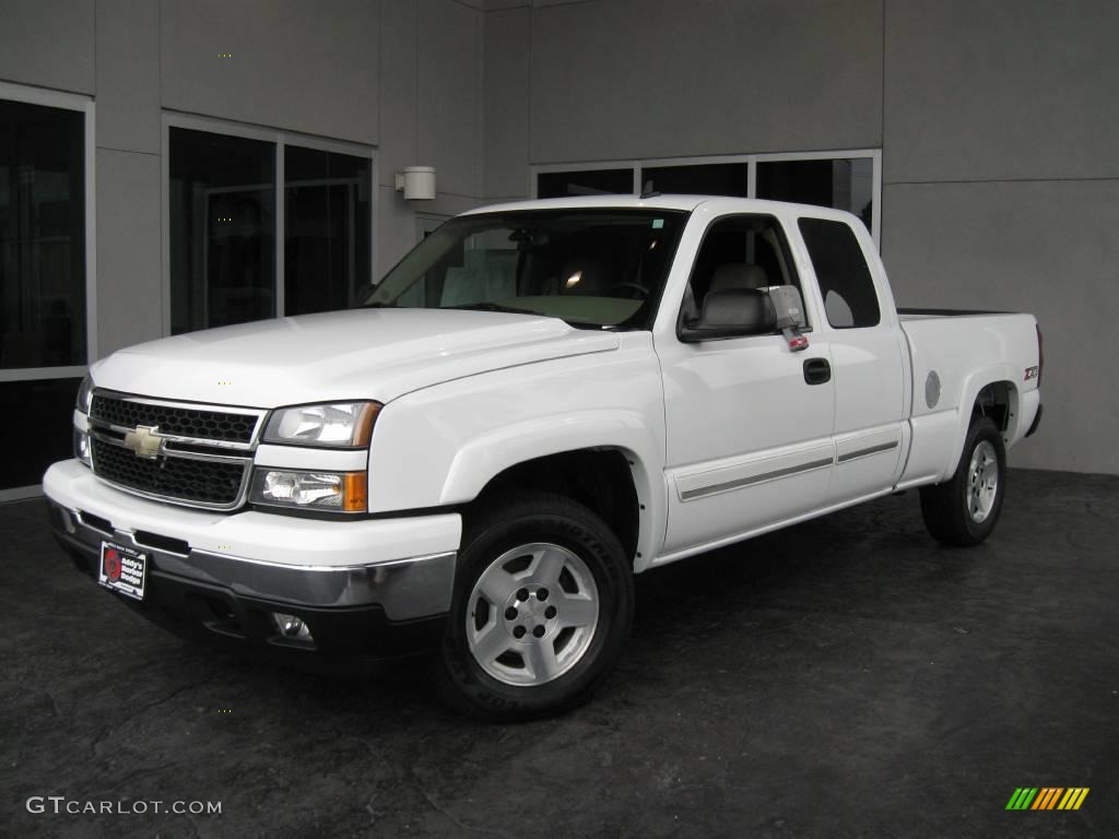 2006 summit white chevrolet silverado 1500 z71 extended cab 4x4 20904568 car. Black Bedroom Furniture Sets. Home Design Ideas