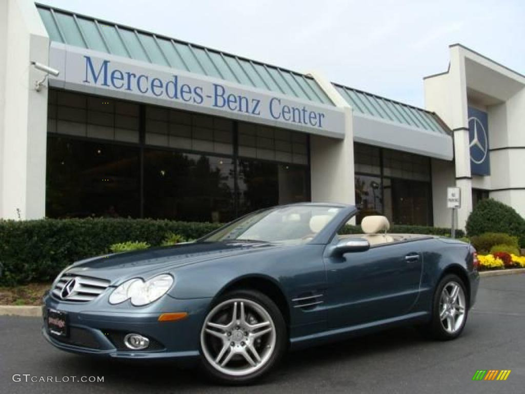 2007 Aegean Blue Metallic Mercedes Benz Sl 550 Roadster 20903680