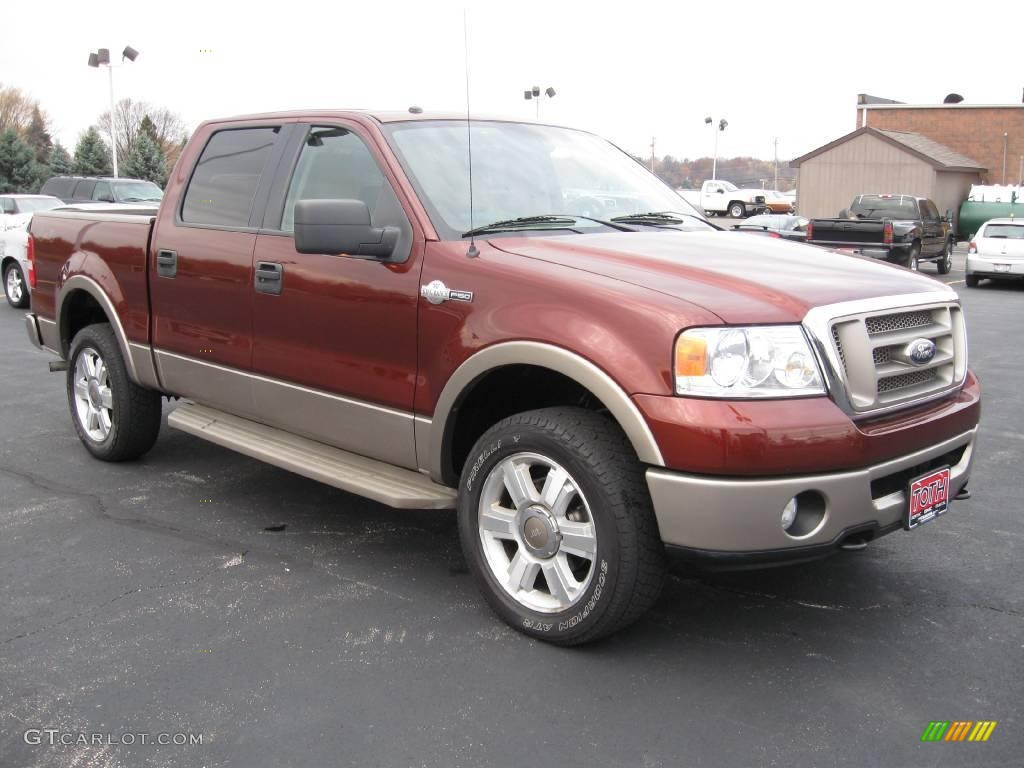 2006 dark copper metallic ford f150 king ranch supercrew 4x4 20913556 car. Black Bedroom Furniture Sets. Home Design Ideas