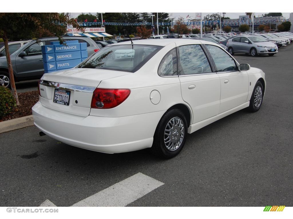 2003 Cream White Saturn L Series L200 Sedan 20960168 Photo 3 Gray