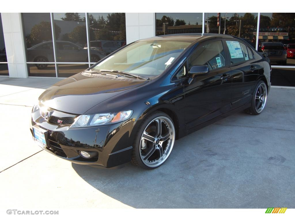 Crystal Black Pearl Honda Civic. Honda Civic Si Sedan