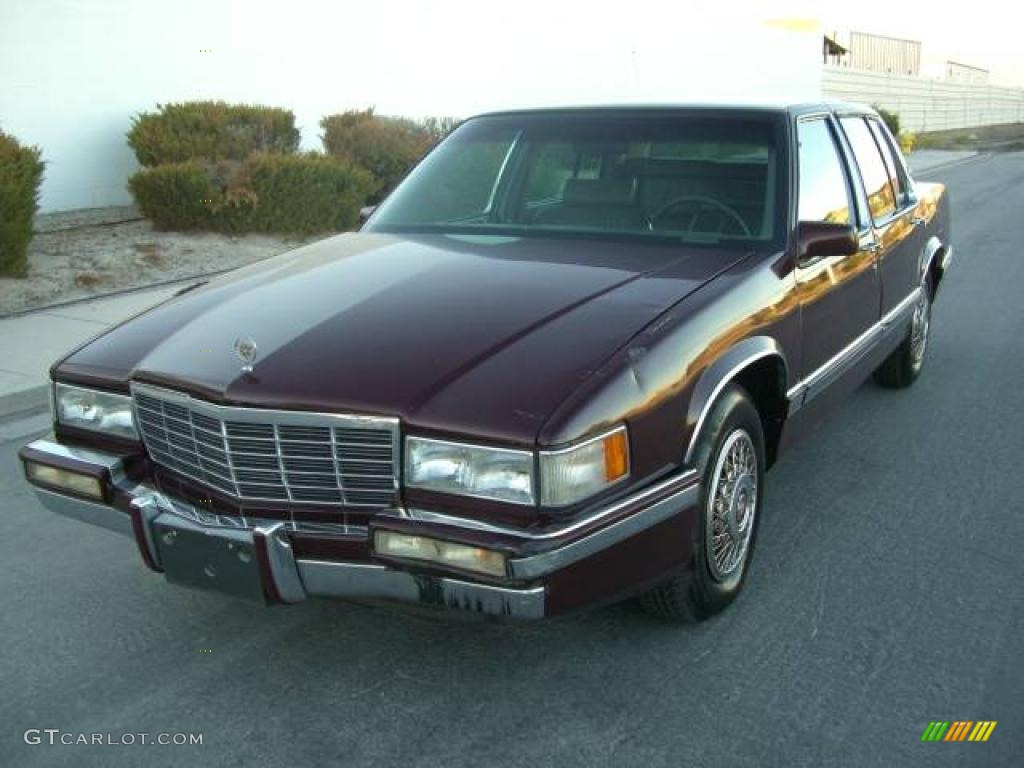 1992 dark garnet red metallic cadillac deville sedan. Black Bedroom Furniture Sets. Home Design Ideas