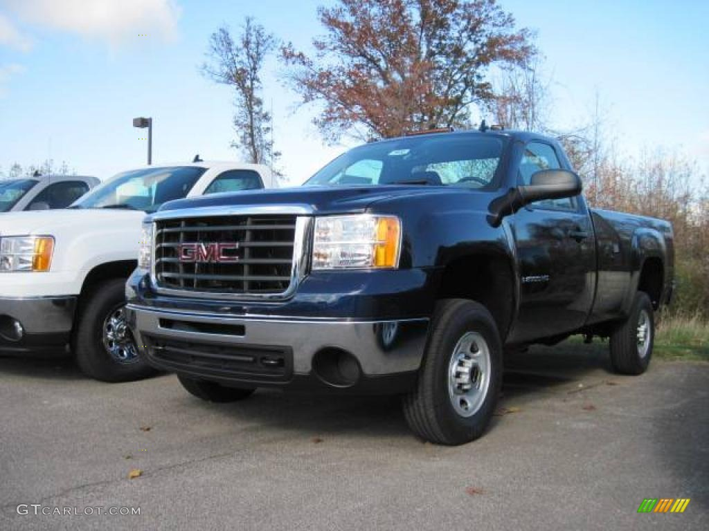 Midnight blue metallic gmc sierra 2500hd