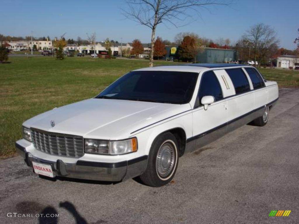 1994 cadillac fleetwood limousine white color black interior. Cars Review. Best American Auto & Cars Review