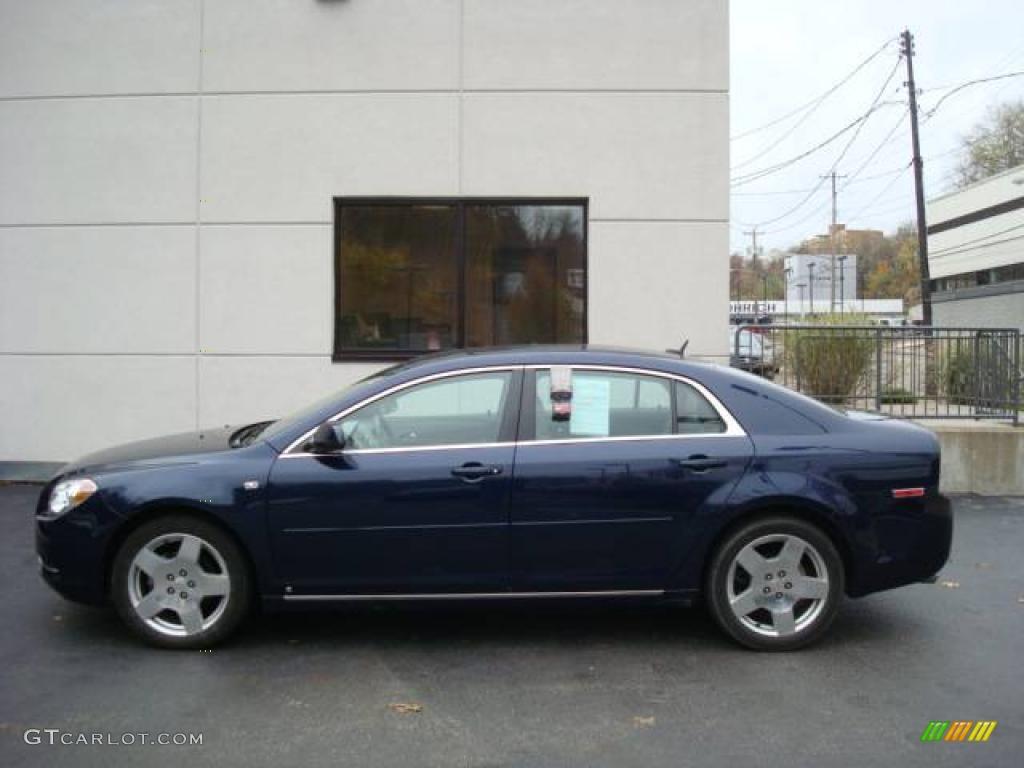 2008 Imperial Blue Metallic Chevrolet Malibu Lt Sedan
