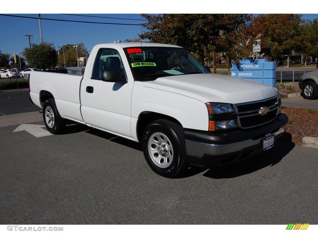 2006 Silverado 1500 Work Truck Regular Cab Summit White Dark Charcoal Photo 1