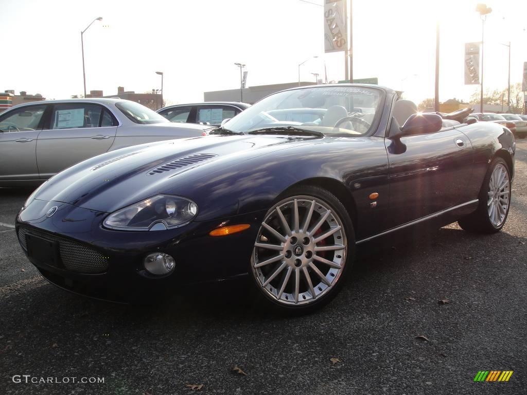 Pacific blue metallic jaguar xk