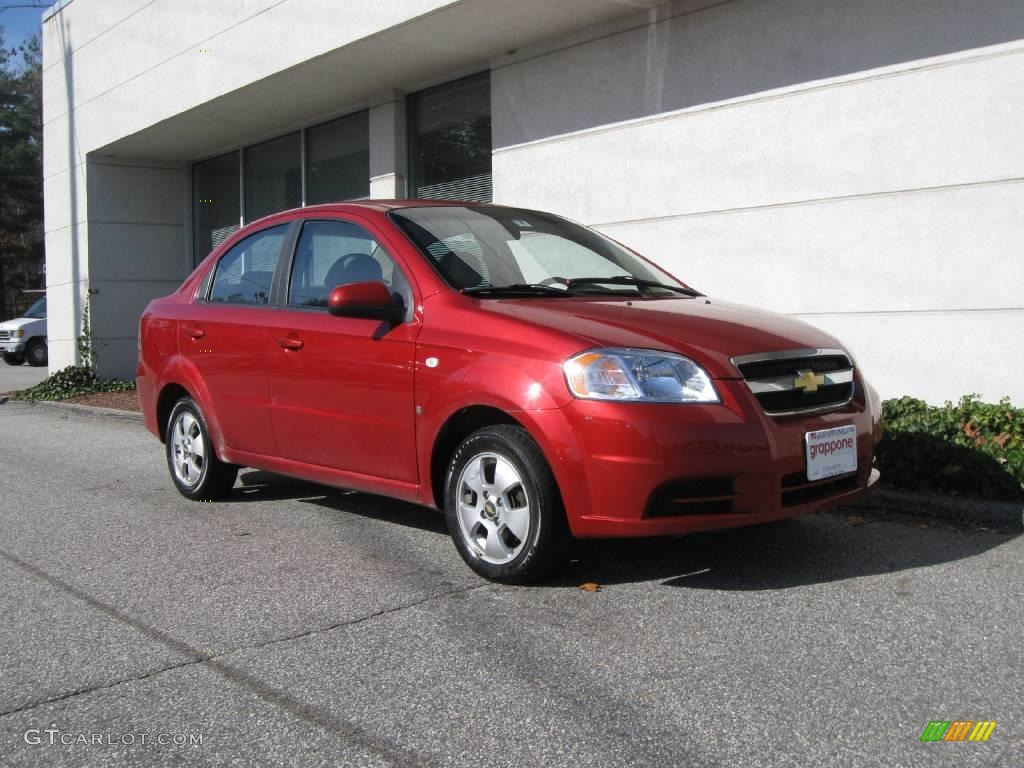 2007 Sport Red Chevrolet Aveo LS Sedan 21068619  GTCarLotcom
