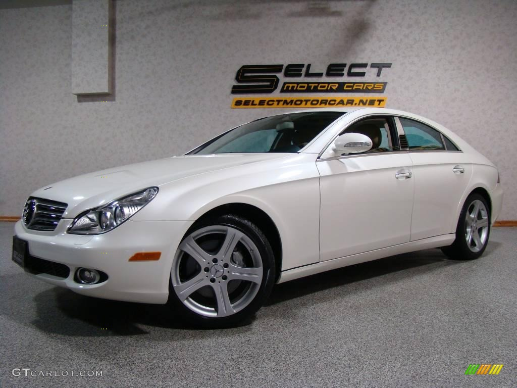 2007 designo mystic white mercedes benz cls 550 21062039 for 2007 mercedes benz cl 550