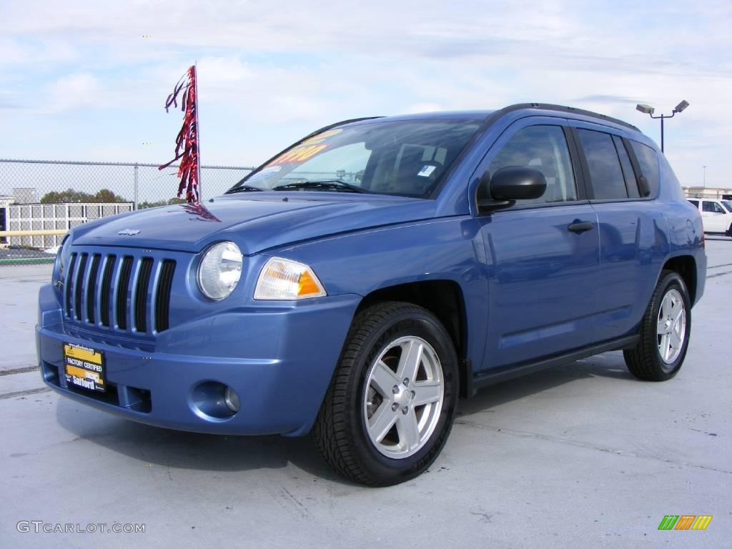 2007 marine blue pearlcoat jeep compass sport 4x4 21073054 car color galleries. Black Bedroom Furniture Sets. Home Design Ideas