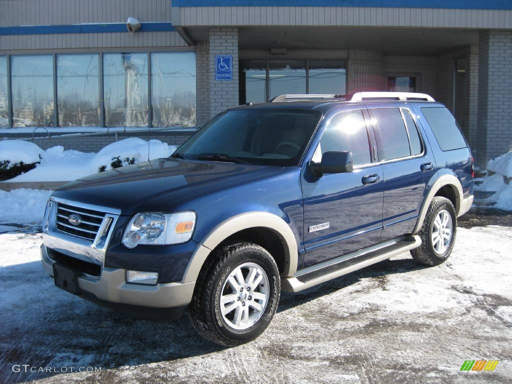 Dark blue pearl metallic ford explorer