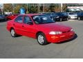 1995 Bright Red Geo Prizm   photo #1