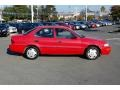 1995 Bright Red Geo Prizm   photo #2