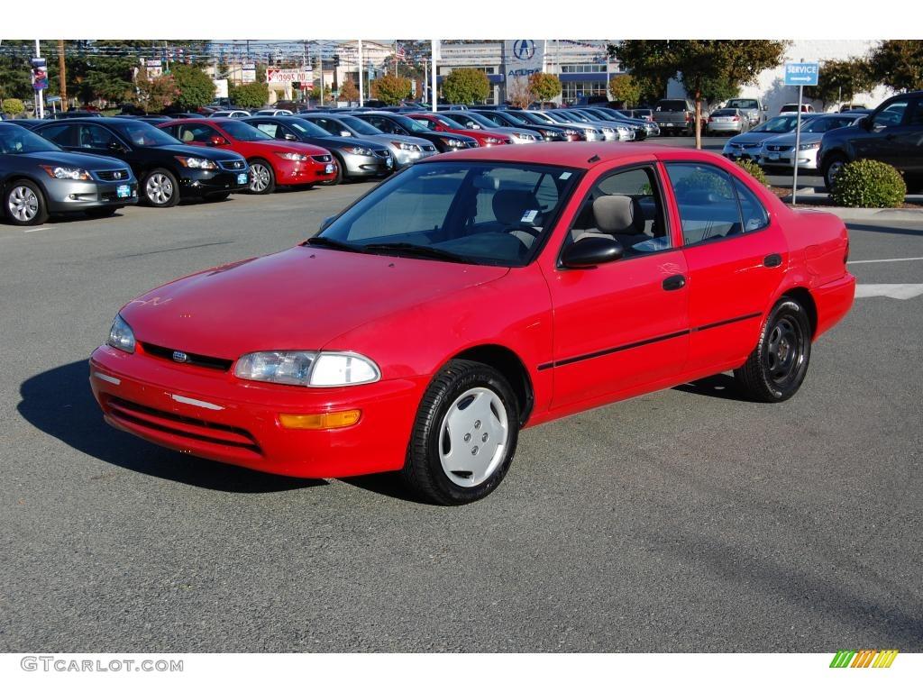Bright Red 1995 Geo Prizm Standard Prizm Model Exterior Photo 21169181 Gtcarlot Com