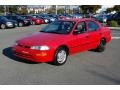 1995 Bright Red Geo Prizm   photo #7