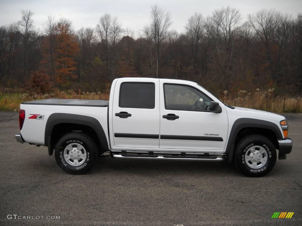 2005 chevrolet colorado z71 crew cab 4x4 summit white color medium. Cars Review. Best American Auto & Cars Review
