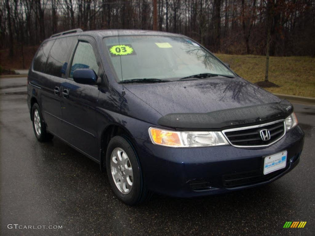2003 midnight blue pearl honda odyssey ex l 2105019. Black Bedroom Furniture Sets. Home Design Ideas