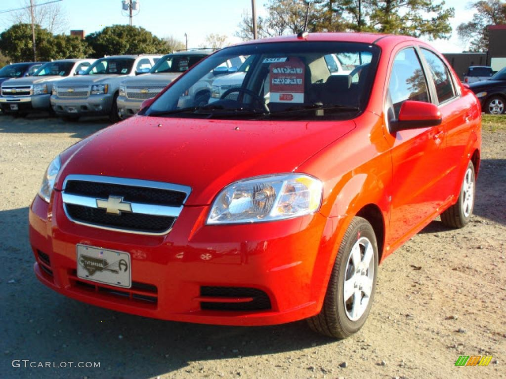 2009 victory red chevrolet aveo lt sedan 21212192 car color galleries. Black Bedroom Furniture Sets. Home Design Ideas