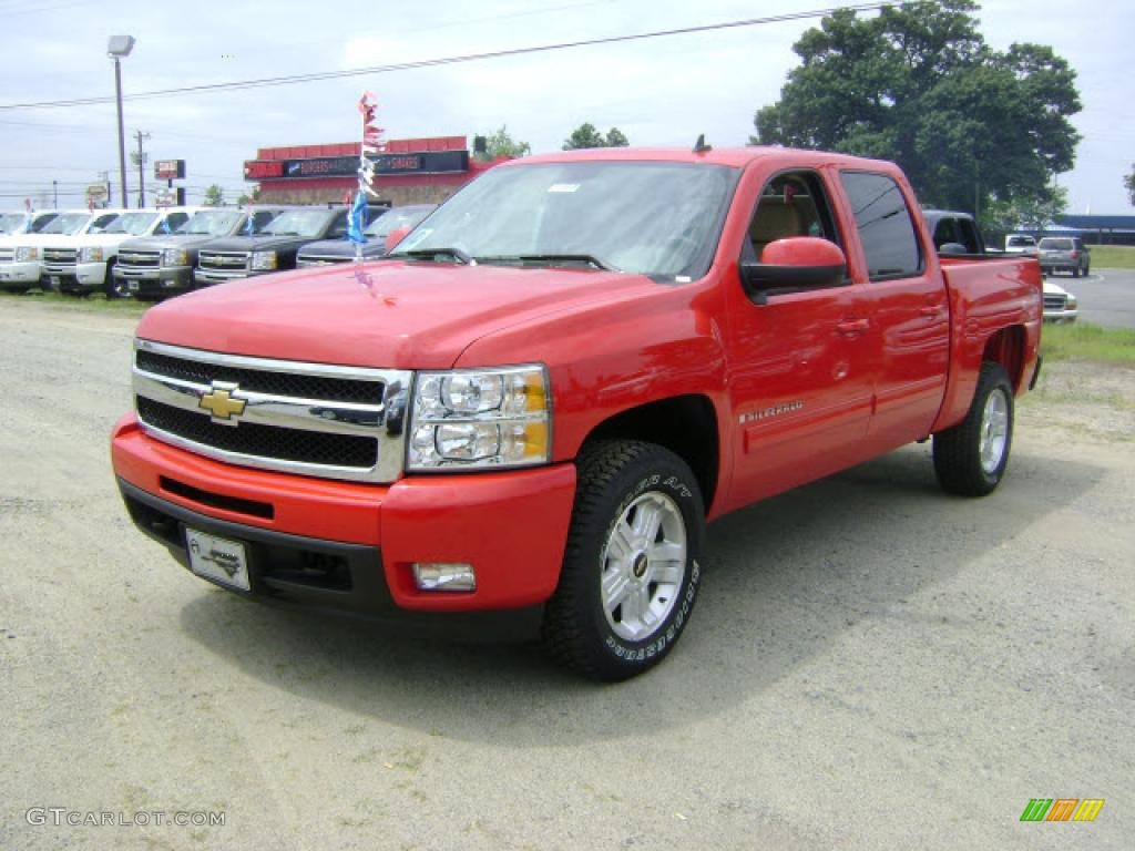 2009 Silverado 1500 LTZ Crew Cab 4x4 - Victory Red / Light Cashmere photo #1