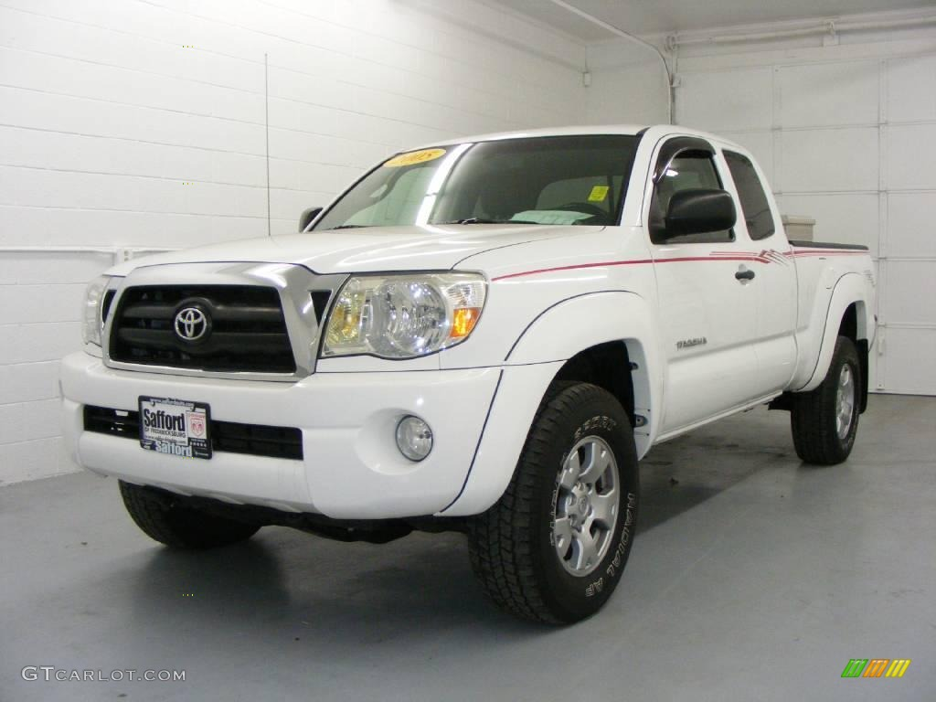 2005 super white toyota tacoma prerunner access cab. Black Bedroom Furniture Sets. Home Design Ideas
