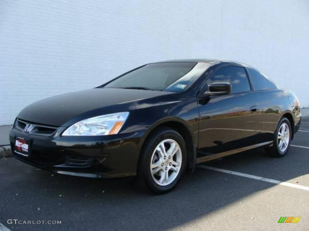 2007 Accord EX L Coupe   Nighthawk Black Pearl / Black Photo #1