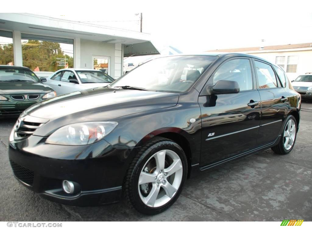 2004 black mica mazda mazda3 s hatchback 21238489 car color galleries. Black Bedroom Furniture Sets. Home Design Ideas