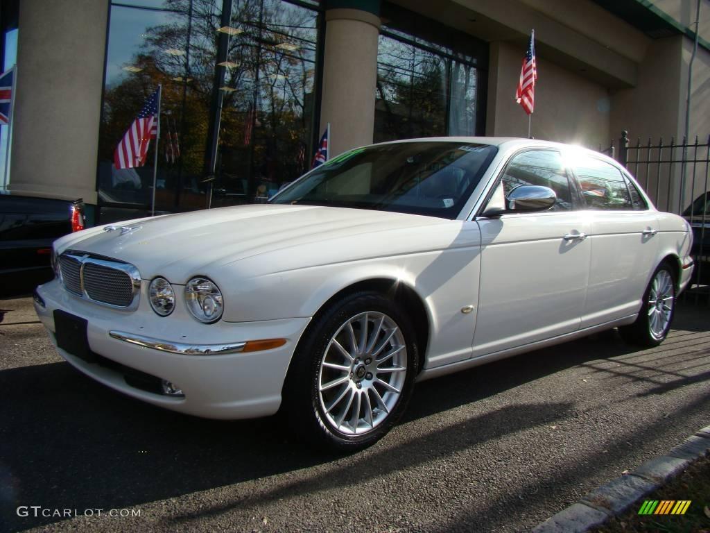 Delightful Porcelain White Jaguar XJ