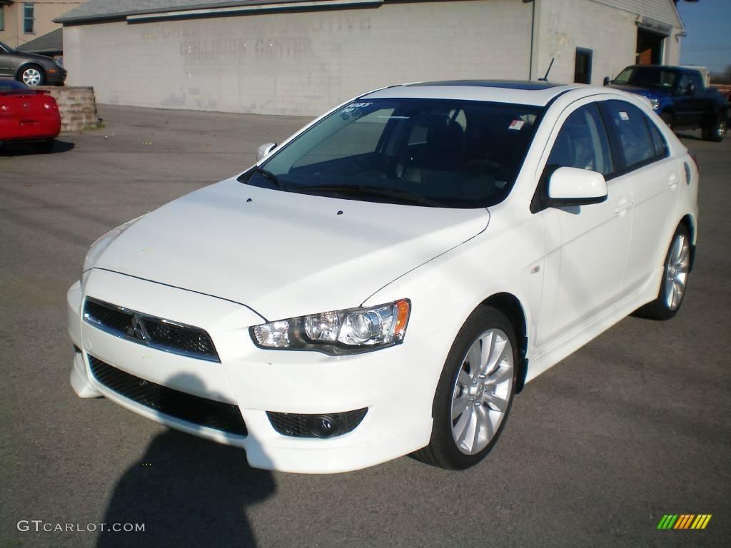 2010 wicked white metallic mitsubishi lancer sportback gts 21292033 car color. Black Bedroom Furniture Sets. Home Design Ideas