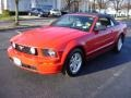 2007 Torch Red Ford Mustang V6 Premium Convertible  photo #1