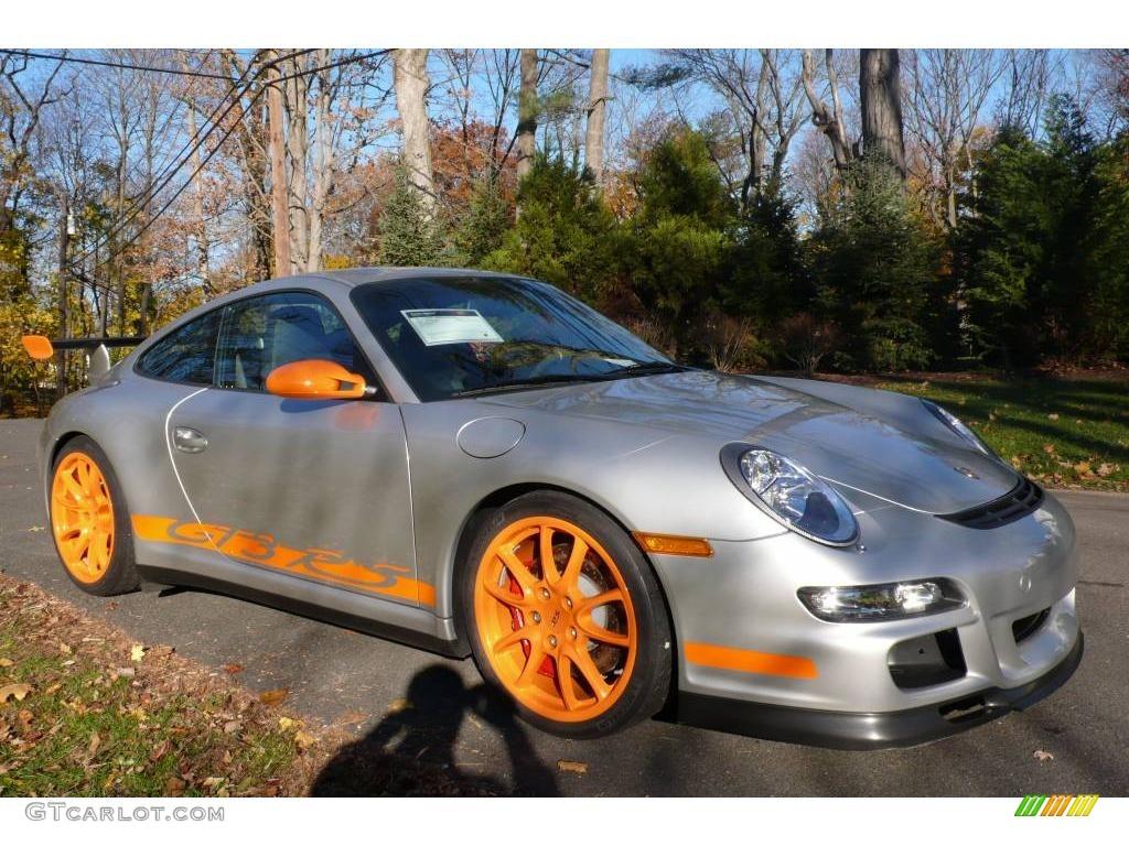 2007 arctic silver metallic orange porsche 911 gt3 rs 2127560 car color galleries. Black Bedroom Furniture Sets. Home Design Ideas