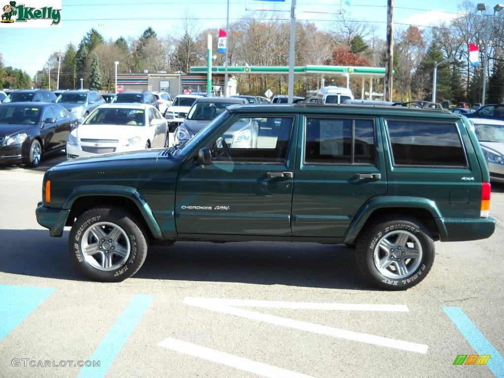 2001 Forest Green Pearlcoat Jeep Cherokee Classic 4x4 ...